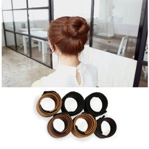 Synthetic Hair Tie Bun Maker Faux Hair Roll UpNWT for sale